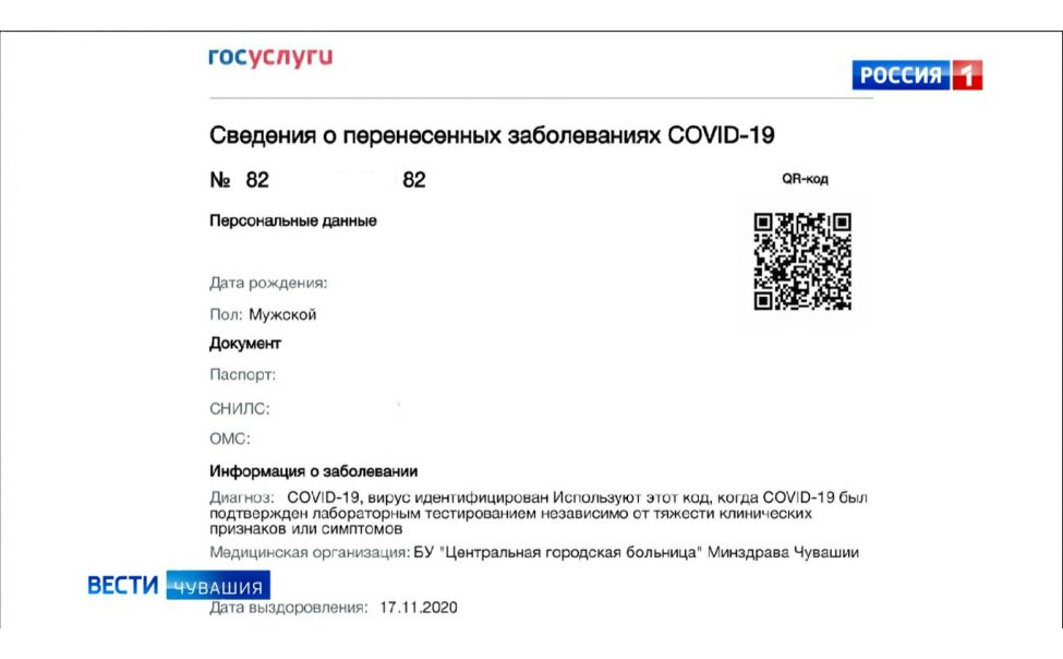Переболевшим COVID-19 жителям Чувашии стали приходить QR-коды